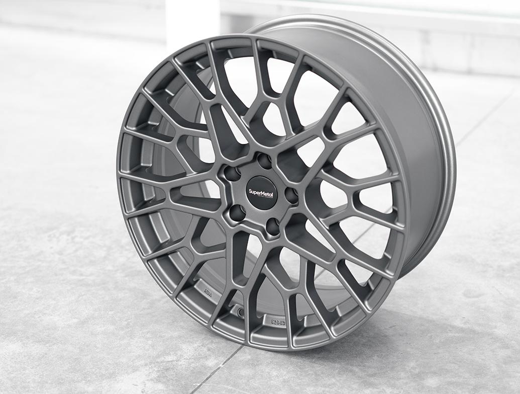 SuperMetal Cell 20x9J 5x120 Matte Grey Alloy Wheels - T5 T6