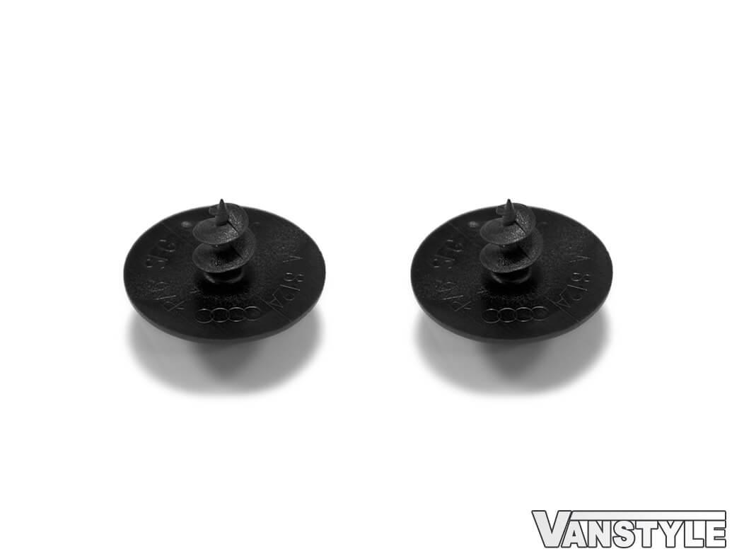 Genuine VW Round Screw in Floor Mat Push Clips x2 (Pair)