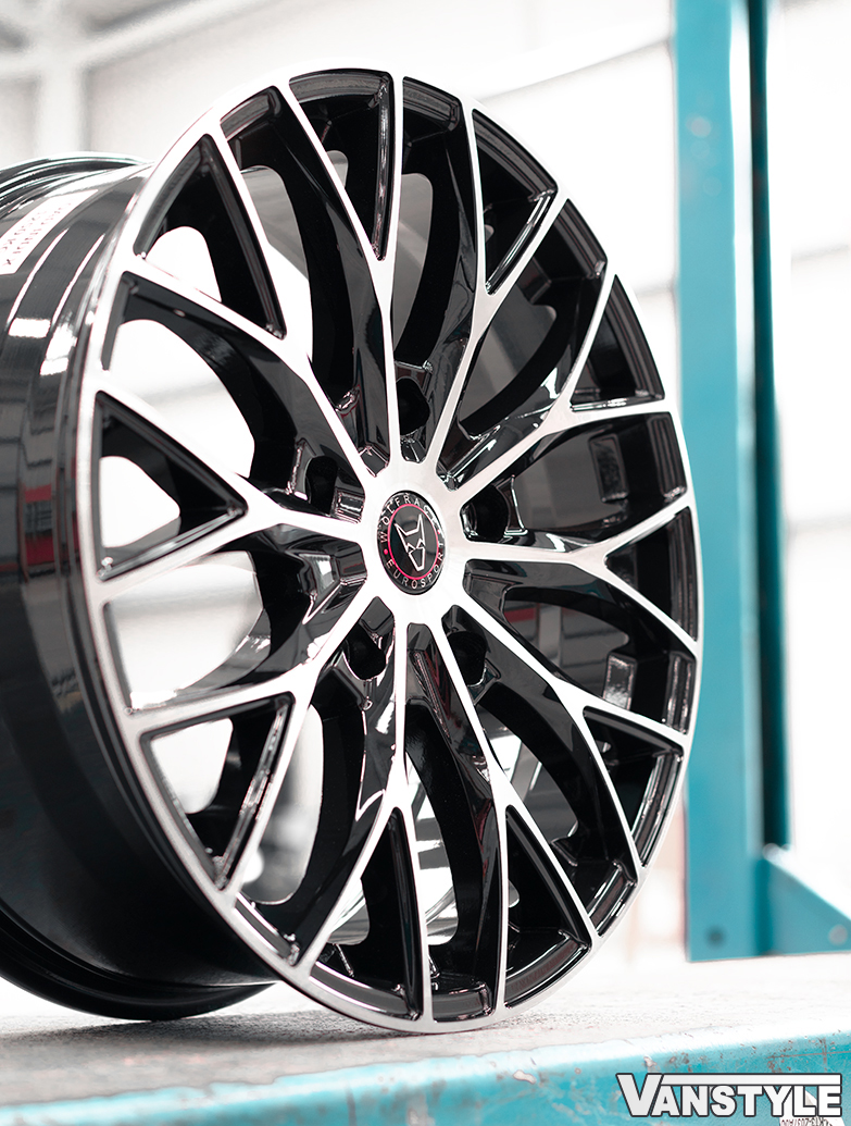 "Wolfrace Wolfsburg Super-T 20\"" 5x160 Black/Polished Alloy Wheels"