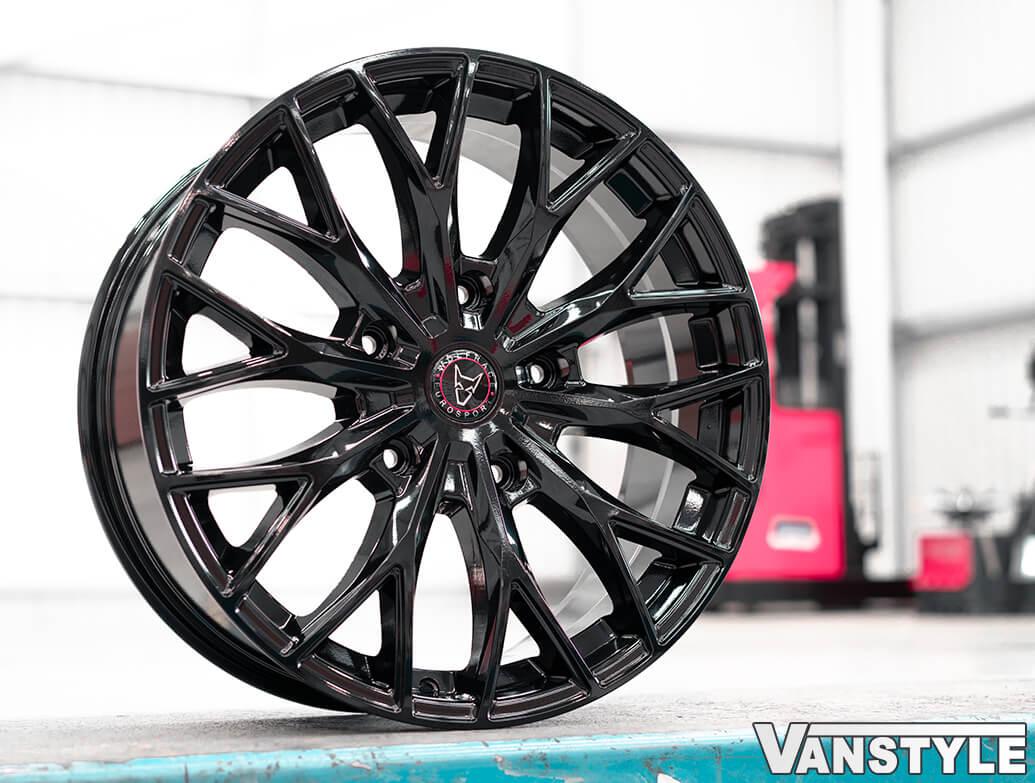 "Wolfrace Wolfsburg Super-T 20\"" 5x160 Gloss Black Wheel & Tyres"