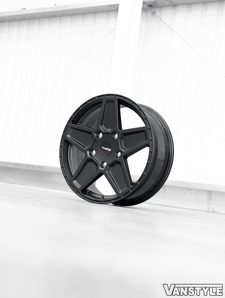 SuperMetal Rocket 20x8J 5x160 Matte Black Alloy Wheels