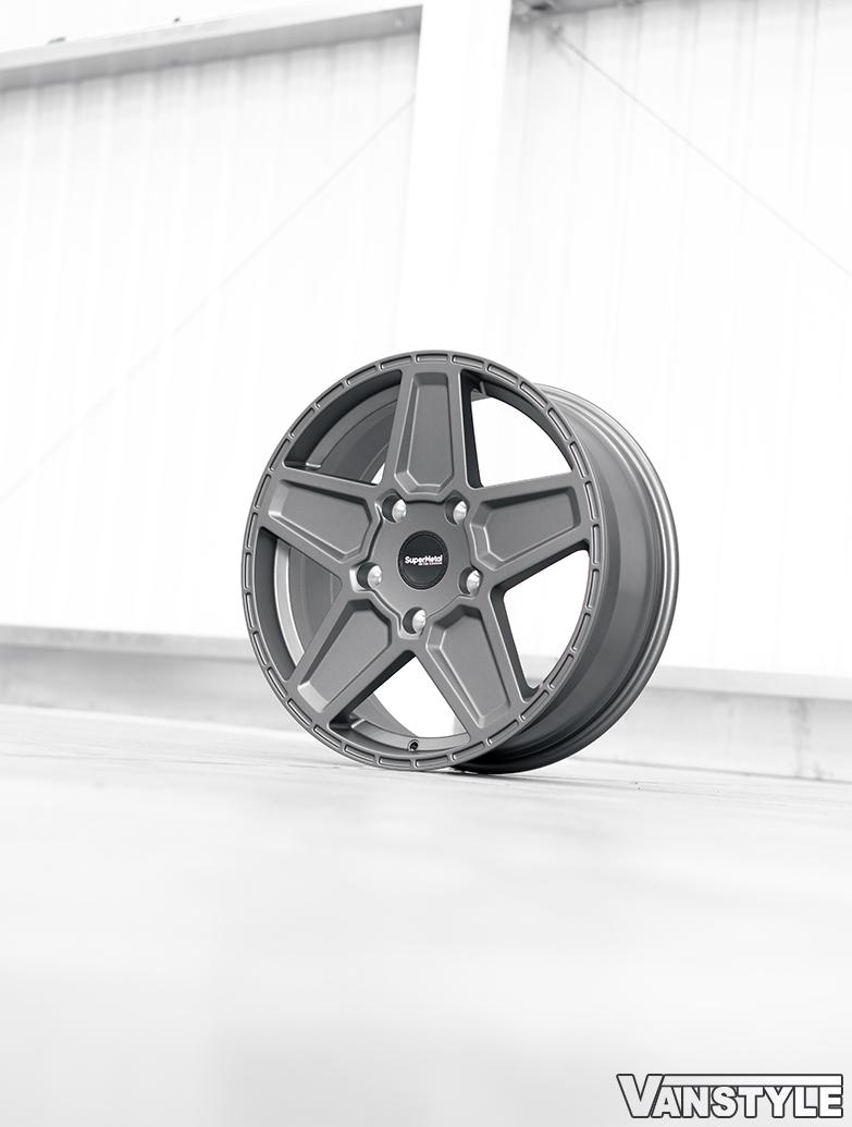 SuperMetal Rocket 20x8J 5x160 Ultra Matte Grey Wheels & Tyres