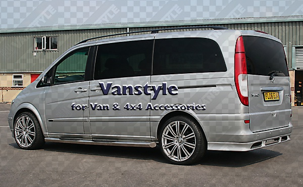 Side Bars 76mm With Steps Trax Mercedes Vito Viano Vanstyle