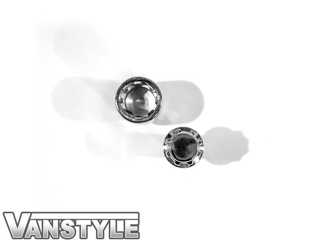 Vanstyle Vauxhall Polished Chrome Locking Wheel Bolts - Set of 4
