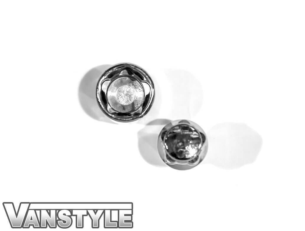 Vanstyle VW T5/T6 Polished Chrome Locking Wheel Bolts - Set of 4