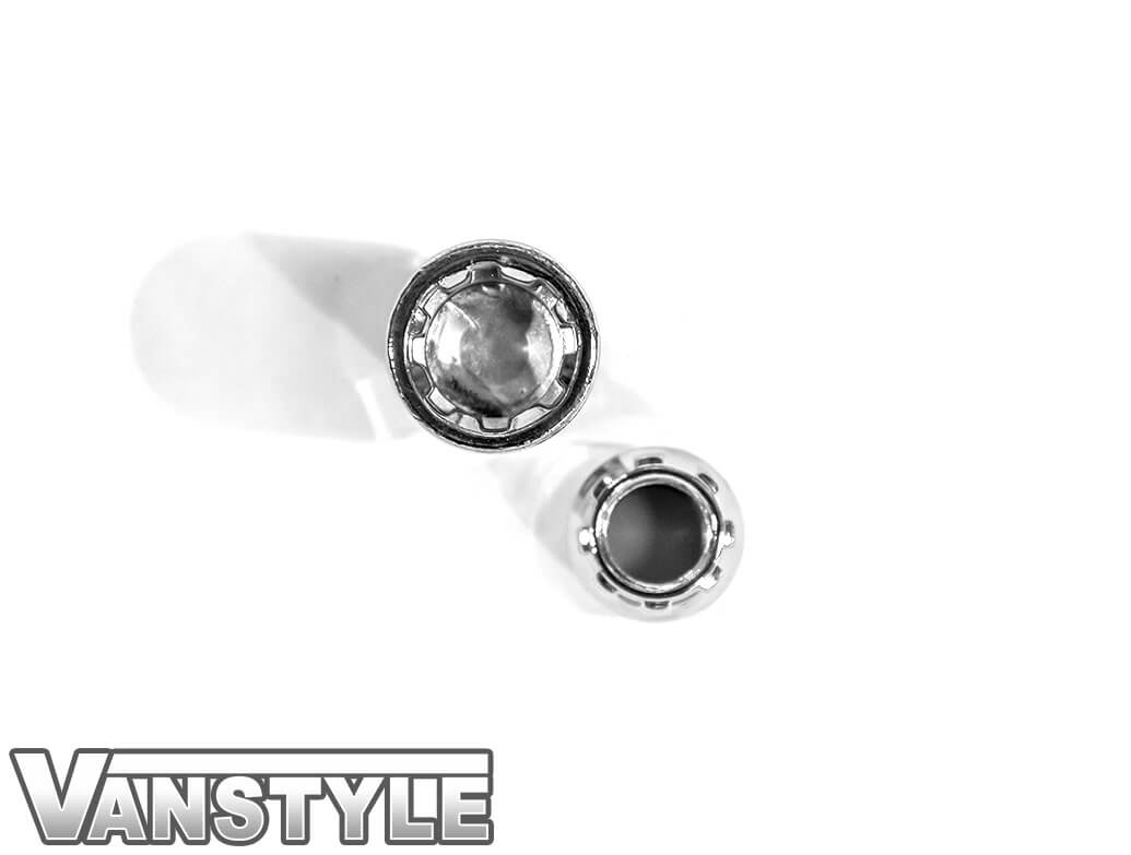 Vanstyle Custom Polished Chrome Locking Wheel Nuts - Set of 4