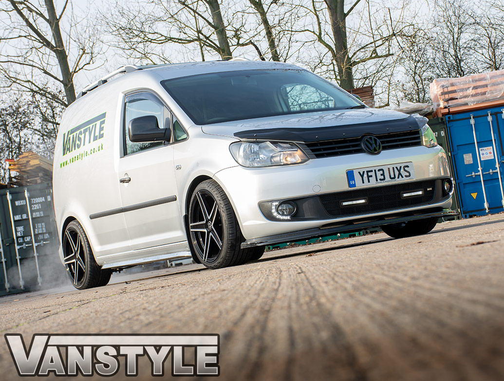 Angled Trapezoid Sportline Style Polished Side Bars - VW Caddy