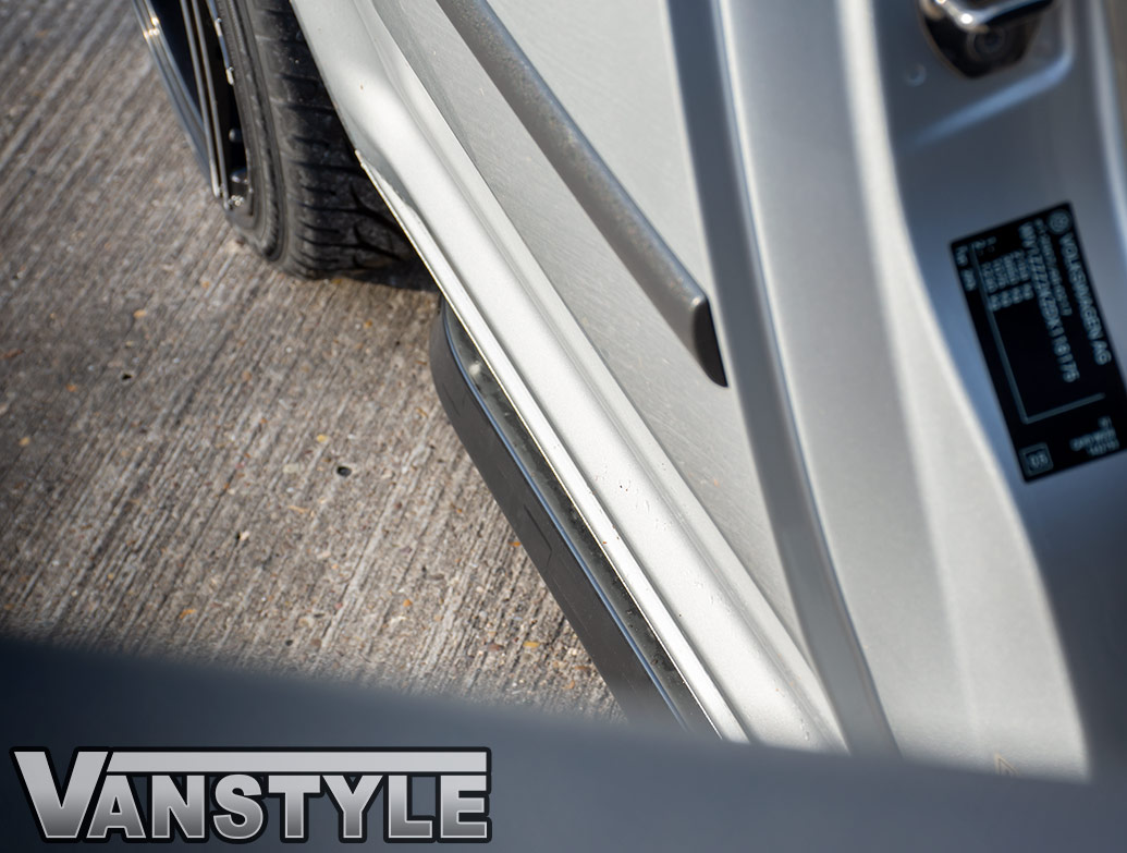 Angled Trapezoid Sportline Style Black Side Bars - VW Caddy