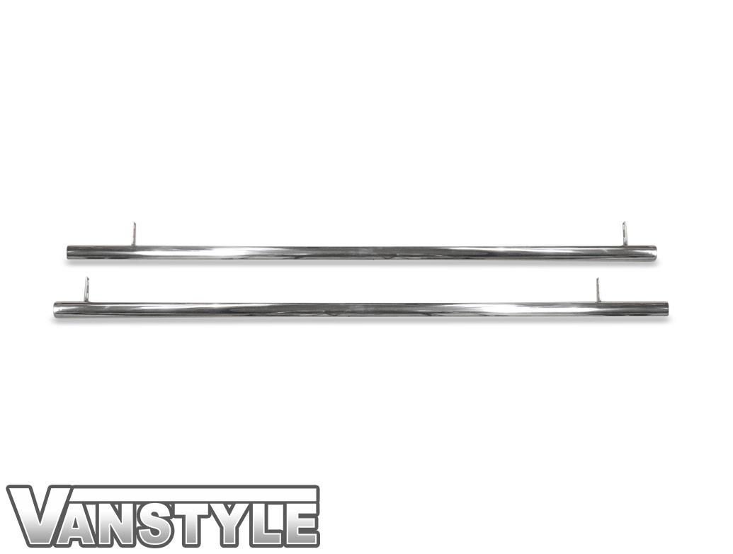 Polished Chrome 60mm Straight Cut Side Bars - VW T5 T6