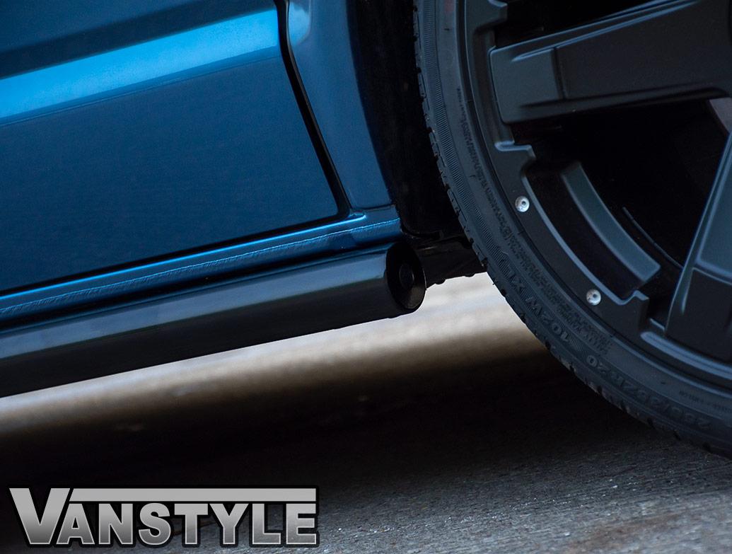 Gloss Black 60mm Straight Cut Side Bars - VW T5 T6