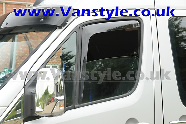Side wind deflectors front doors mb sprinter crafter 06 for Mercedes benz sprinter sun visor