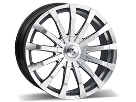 "Wolfrace Renaissance Silver & Polished 20"" VW T5 T6 Alloy Wheels"